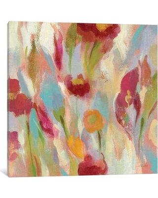 "East Urban Home Breezy Floral III Painting Print on Wrapped Canvas ESHM8487 Size: 18"" H x 18"" W x 0.75"" D"