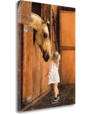 """Tangletown Fine Art 'Little Visitor' Print on Canvas SBLH1008- Size: 32"""" H x 24"""" W"""