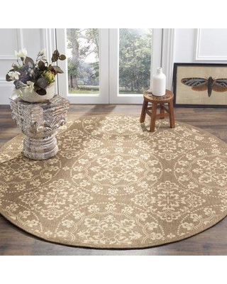 Charlton Home Charing Cross Beige/Anthracite Area Rug DIMI3835 Rug Size: Round 6'