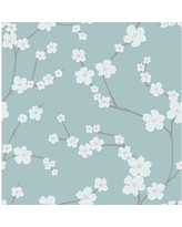 Here S A Great Deal On A Street Fiji Turquoise Floral Paper Strippable Roll Wallpaper Covers 56 4 Sq Ft