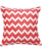 Greendale Home Fashions Chevron Cotton Canvas Throw Pillow TP5213- Color: Pink