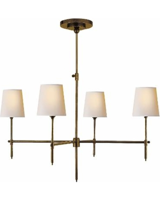 Visual Comfort and Co. Thomas O'Brien Bryant 36 Inch 4 Light Chandelier - TOB 5003HAB-NP