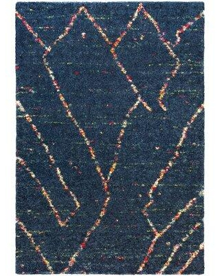 Huge Deal On Union Rustic Boudreaux Abstract Navy Area Rug Polypropylene In Blue Navy Size Rectangle 5 2 X 7 Wayfair 302321e0cfb545ed9f13e582c2aba83b