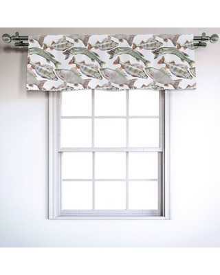 """Fishes 54"""" Window Valance East Urban Home"""