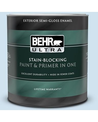 BEHR ULTRA 1 qt. #M520-1A Soft Cloud Semi-Gloss Enamel Exterior Paint and Primer in One
