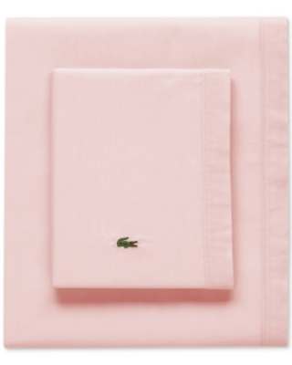 Lacoste Solid Cotton Percale California King Sheet Set Bedding