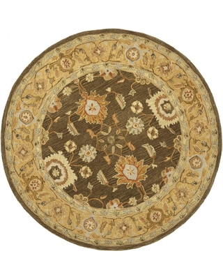 Safavieh Anatolia Brown/Taupe (Brown/Brown) 6 ft. x 6 ft. Round Area Rug