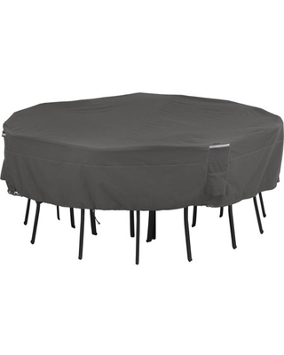 Classic Accessories Ravenna Water-Resistant 86 Inch Square Patio Table & Chair Set Cover