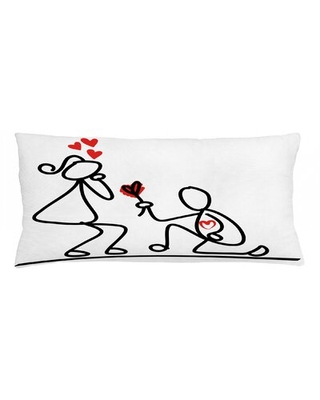 "Engagement Party Indoor / Outdoor Lumbar Pillow Cover East Urban Home Size: 16"" x 36"""