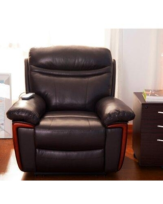 Shopping Special For Red Barrel Studio Grange Pu Leather Manual Recliner X113937831