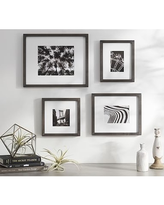 Wood Gallery Single Opening Frame, Set of 3 (includes 4x6, 5x7, 8x10) - Charcoal