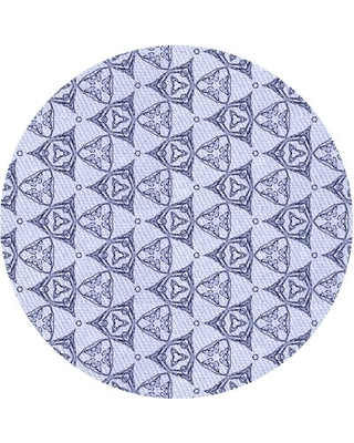 Geometric Blue Area Rug East Urban Home Rug Size: Rectangle 2' x 4'
