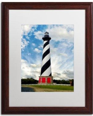 "Trademark Art Cape Hatteras Lighthouse Framed Photographic Print MFG0011-W1114MF / MFG0011-W1620MF Size: 20"" H x 16"" W x 0.5"" D"