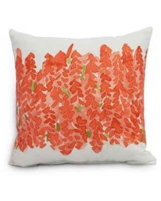 Simply Daisy's Flower Bell Bunch 18 inch Orange Decorative Floral Throw Pillow