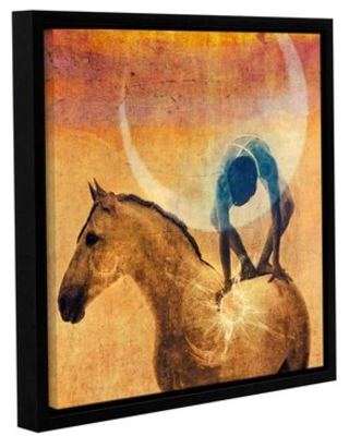 'Cosmic Cycles' by Elena Ray Framed Painting Print on Wrapped Canvas