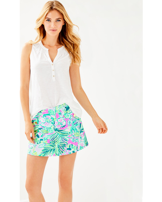 Lilly Pulitzer Lilly Pulitzer Womens Sleeveless Essie Top