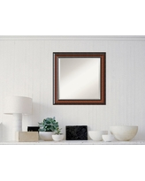 Cyprus Walnut Wood 25 in. W x 25 in. H Traditional Framed Mirror