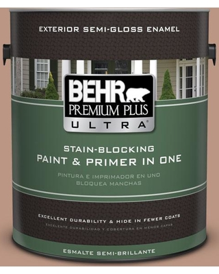 Discover Deals On Behr Ultra 1 Gal S190 4 Spiced Brandy Semi Gloss Enamel Exterior Paint And Primer In One