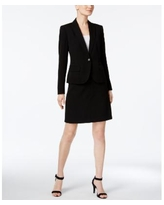 Anne Klein Executive Collection Single-Button A-Line Skirt Suit, Created for Macy's - Black