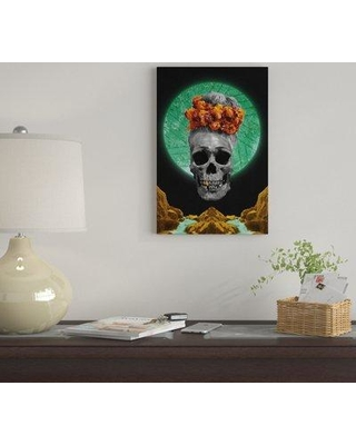 """East Urban Home 'Skull Espiritual' By Barruf Graphic Art Print on Wrapped Canvas EUME2923 Size: 60"""" H x 40"""" W x 1.5"""" D"""