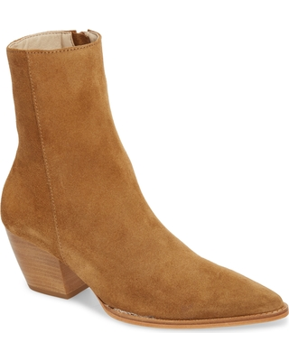 Women's Matisse Caty Western Pointy Toe Bootie, Size 8.5 M - Brown (Nordstrom Exclusive)