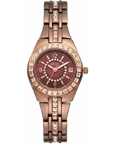 Relic by Fossil Women's Queen's Court Crystal Watch, Size: Small, Brown