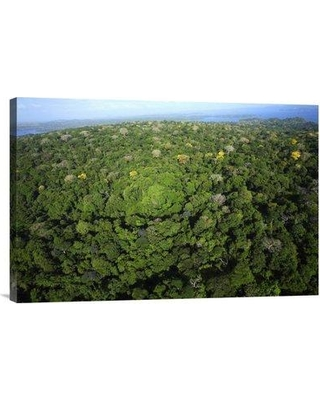 """East Urban Home 'Aerial View of the Canal Zone Barro Colorado Island Panama' Photographic Print EAAC8720 Size: 16"""" H x 24"""" W Format: Wrapped Canvas"""
