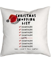 SafiyaJamila Holiday Treasures Christmas Shopping List Throw Pillow ShoppingList_1