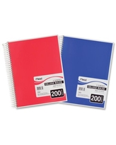 Mead Spiral Notebook, 5 Subject, College Ruled, 200 Sheets, Assorted (06780)