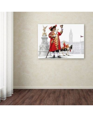 """Astoria Grand 'Town Crier' Print on Wrapped Canvas ATGD4197 Size: 18"""" H x 24"""" W x 2"""" D"""