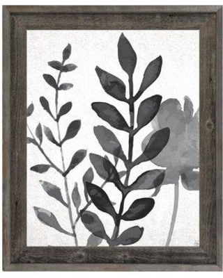 """Click Wall Art 'Plant Shadows' Framed Print of Painting BKW0000034FRA Size: 33.5"""" H x 23.5"""" W"""