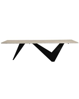 Bird Collection VE-1078-24 Dining Table with Iron Base in Natural