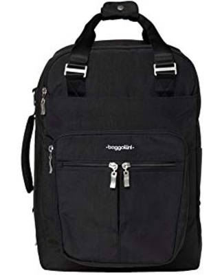 Baggallini Women's Convertible Travel Backpack, Black, One Size