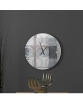 Amazing Deal On Latitude Run Gutsy Practicable Abstract Metal Wall Clock Metal In Green Size Large Wayfair 7128bde56eb14539bf04f21ea1255255