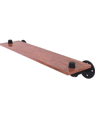 Allied Brass Pipeline Collection 22 in. Ironwood Shelf in Matte Black