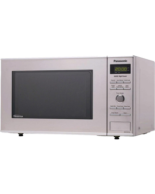 Panasonic Compact 0.8 Cu. Ft. Stainless Steel Countertop Microwave Oven