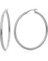 Belk & Co. Silver Hoop Earrings in Sterling Silver