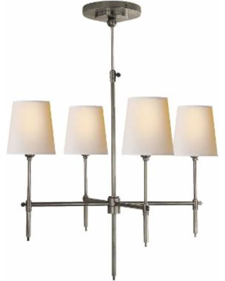 Visual Comfort and Co. Thomas O'Brien Bryant 26 Inch 4 Light Chandelier - TOB 5002AN-NP