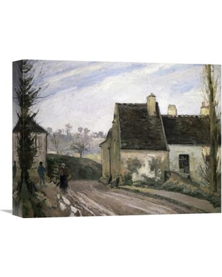 "Global Gallery 'Les Masures Pres D' Osny' by Camille Pissarro Painting Print on Wrapped Canvas GCS-279419 Size: 17.23"" H x 22"" W x 1.5"" D"