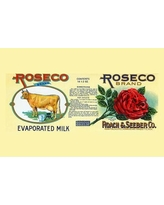 "Buyenlarge 'Roseco Brand Evaporated Milk' Vintage Advertisement 0-587-33618-8 Size: 28"" H x 42"" W x 1.5"" D"
