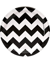 8ct Black u0026 White Chevron Paper Dessert Plate  sc 1 st  Better Homes and Gardens : black and white chevron paper plates - pezcame.com