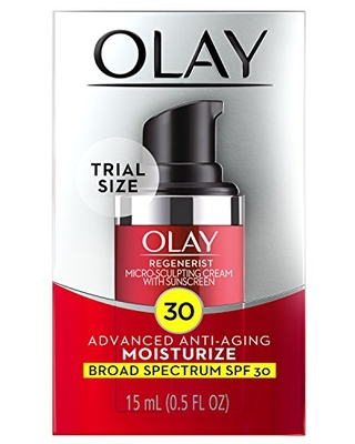Olay Regenerist Micro-sculpting Cream Face Moisturizer With Spf 30, Trial Size 0.5 Ounce, 0.5 Ounce (Pack Of 12)