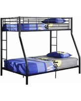 Pearson Twin-Over-Full Bunk Bed, One Size , Black
