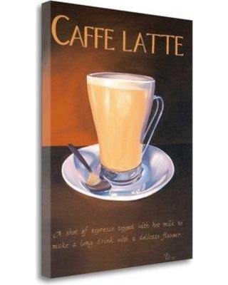 """Tangletown Fine Art 'Urban Caffe Latte' Graphic Art Print on Wrapped Canvas CA305293-1823c Size: 26"""" H x 20"""" W"""