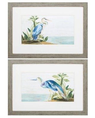 Here S A Great Deal On Rosecliff Heights Season Of Pease 2 Piece Picture Frame Painting Print Set On Paper Paper In Blue Size Small 18 24 Wayfair