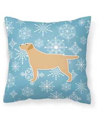 """Winter Snowflakes Indoor/Outdoor Throw Pillow East Urban Home Size: 18"""" H x 18"""" W x 3"""" D"""