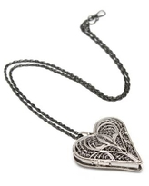 Hand Crafted Heart Shaped Sterling Silver Locket Necklace