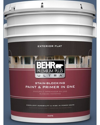BEHR ULTRA 5 gal. #590F-6 Mesmerize Flat Exterior Paint and Primer in One