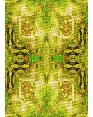 East Urban Home Degraw Abstract Wool Yellow Area Rug X112235600 Rug Size: Rectangle 2' x 3'
