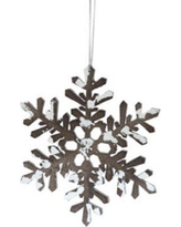 Gracie Oaks Glitter Tipped Snowflake Decorative Christmas Shaped Ornament GRCS1090